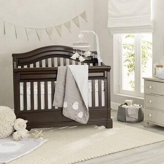 Lambs & Ivy Gray Goodnight Sheep 6-Piece Crib Bedding Set