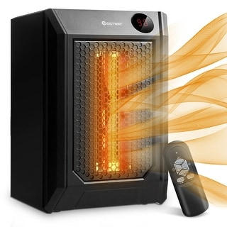 Costway Portable Electric Space Heater 1500W 12H Timer LED Remote