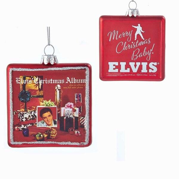 """Elvis Presley Christmas Album 3.25"""" Glass Ornament"""