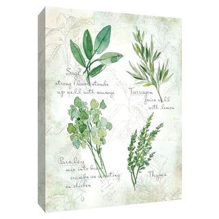 "PTM Images 9-148559  PTM Canvas Collection 10"" x 8"" - ""Fresh Herbs II"" Giclee Herbs Art Print on Canvas"