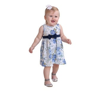 Pulla Bulla Baby Girl Infant Bow Floral Dress (3 options available)