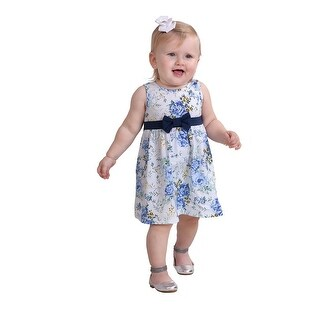 Pulla Bulla Baby Girl Infant Bow Floral Dress