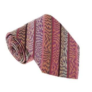Missoni U3808 Pink/Purple Flame Stitch 100% Silk Tie - 60-3
