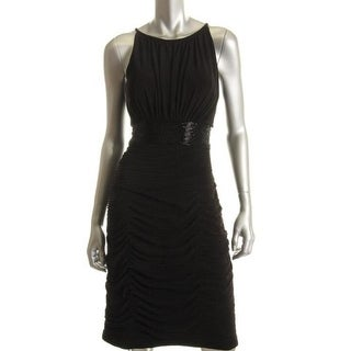 JS Boutique Womens Lined Stretch Little Black Dress - 2