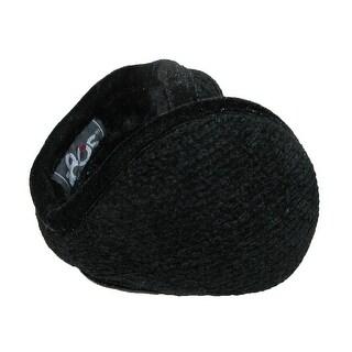 180s Women's Chenille Wrap Around Earmuffs - Black - One Size
