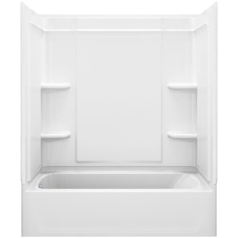"""Sterling 71320116 Ensemble 60"""" x 33-1/4"""" x 76-1/4"""" Vikrell Shower with"""