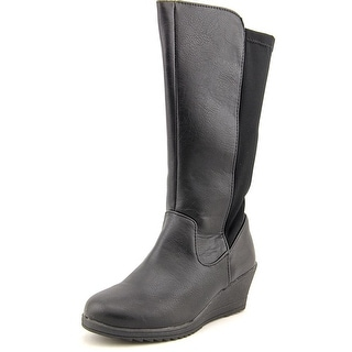 Kenneth Cole Reaction Away We Show Round Toe Leather Mid Calf Boot