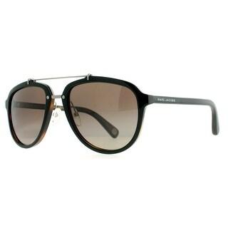 Marc Jacobs MJ 470/S BG4 LA Black Dark Tortoise Polarized Aviator Sunglasses - black/brown havana - 56mm-21mm-145mm