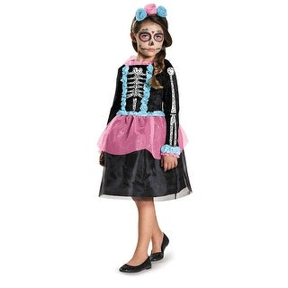 Girls Sweet Skeleton Halloween Costume (2 options available)