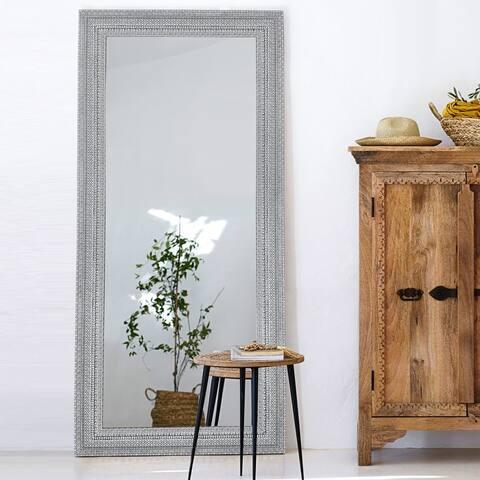 Boho Style Carving Oversized Full Length Mirror