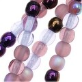 Czech Glass Druk 4mm Round 'Lilac Purple Mix' (100) - Thumbnail 0
