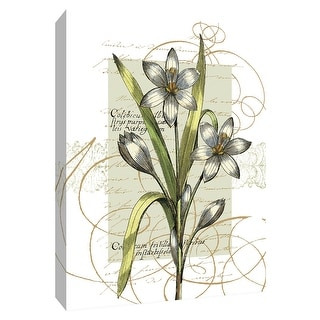 "PTM Images 9-154202  PTM Canvas Collection 10"" x 8"" - ""Florilegium I"" Giclee Flowers Art Print on Canvas"