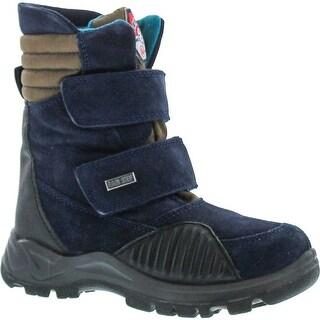 Naturino Boys Abetone Tall Shaft Waterproof Winter Boots - blue/kaki/nero