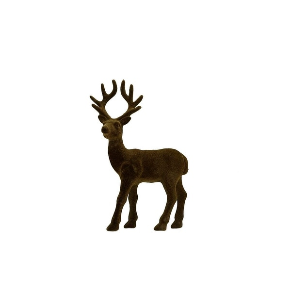"8.5"" Luxury Lodge Small Brown Deer Standing Table Top Christmas Decoration"