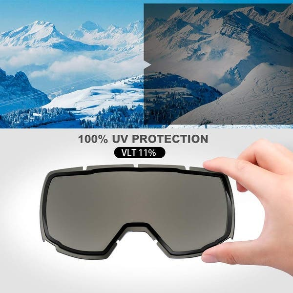 Helmet Compatible Snow Goggles for Boys /& Girls with 100/% UV Protection OutdoorMaster Kids Ski Goggles