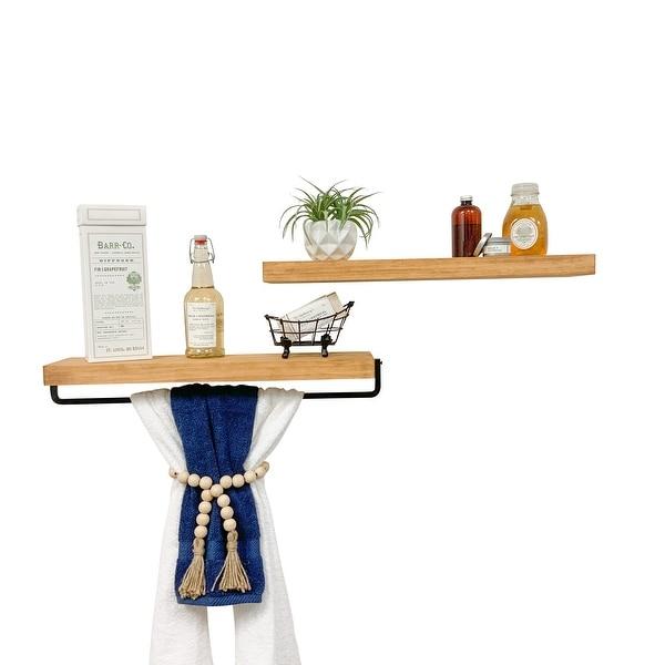 Del Hutson Designs True Floating Shelf and Towel Rack. Opens flyout.