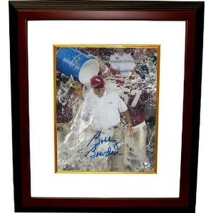 Bobby Bowden signed Florida State Seminoles 8x10 Photo Powerade Dunk Custom Framed