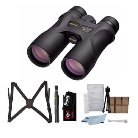 Nikon PROSTAFF 7S 10x42 Binoculars (Black) with Bino-Caddy Bundle