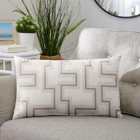Sunbrella Resonate Dune Indoor/ Outdoor Pillow, 13 in x 20 in