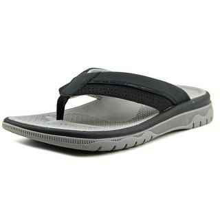 Clarks Balta Sun Men Open Toe Synthetic Black Thong Sandal