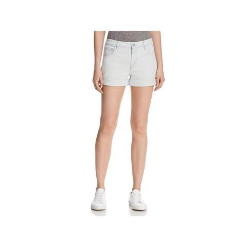 J Brand Womens Denim Shorts Mid-Rise Cuffed