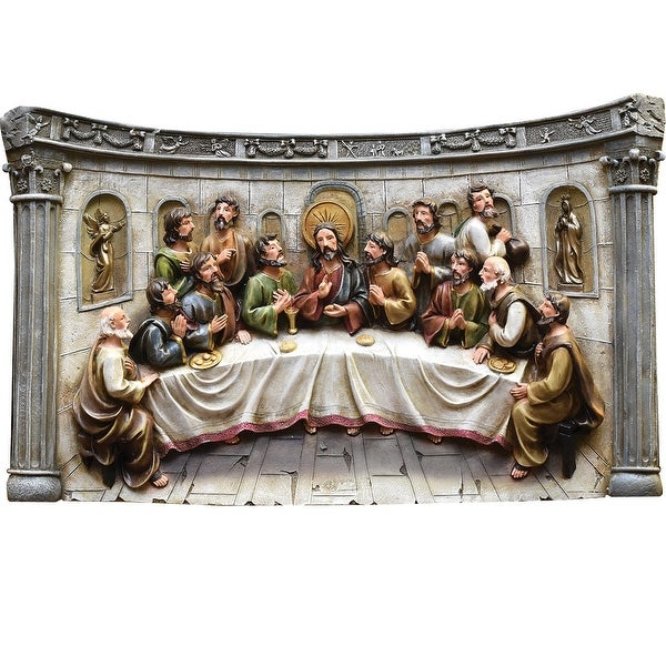 """20"""" The Last Supper Inspirational Religious Christmas Table Top Decoration"""