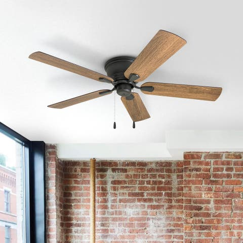 The Gray Barn Dalmeny 52-inch Coastal Indoor LED Ceiling Fan with Pull Chains 5 Reversible Blades - 52