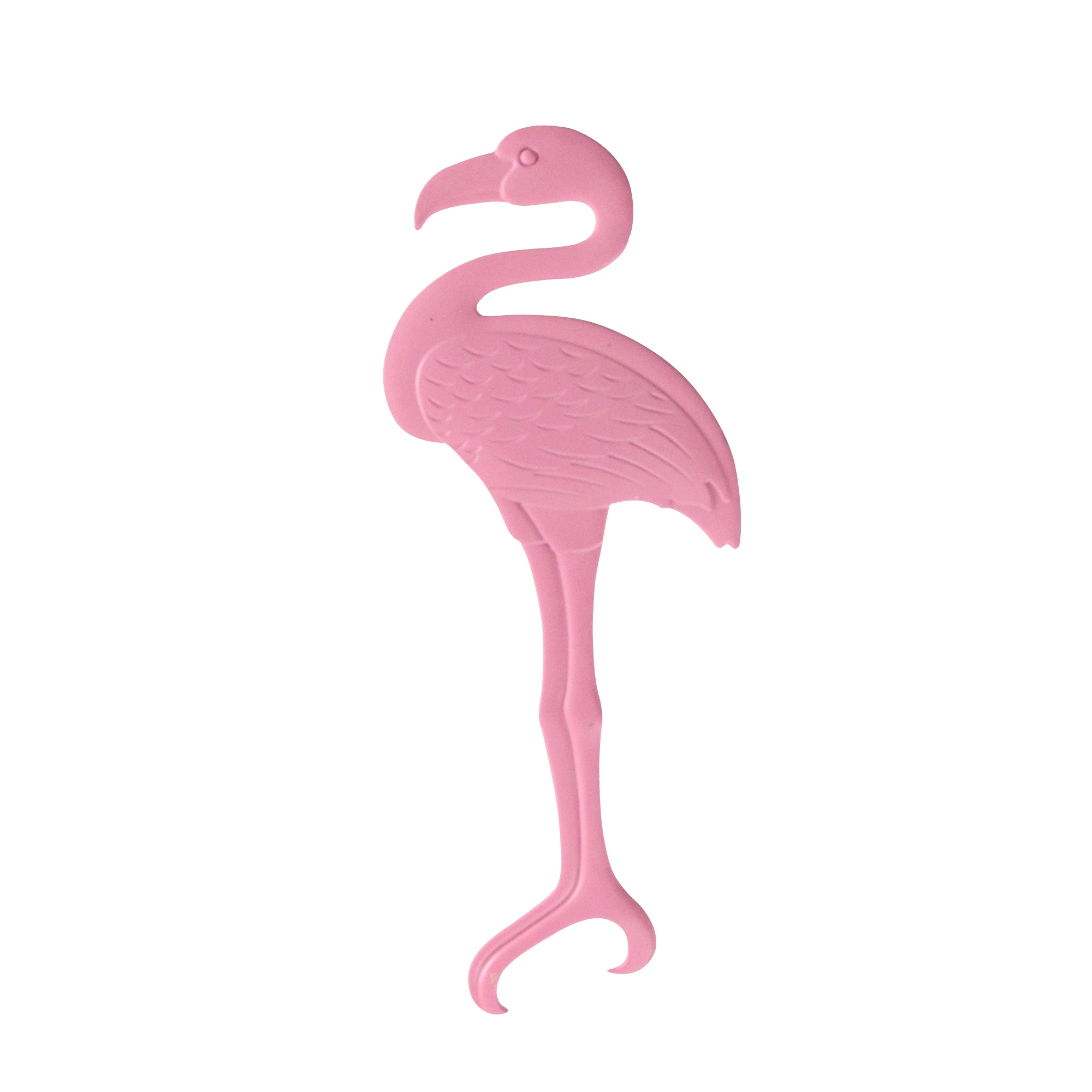 Pink Flamingo Handheld Metal Plated