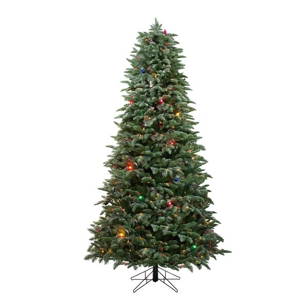 Frosted Slim Christmas Tree: Shop 6.5' Pre-Lit Frosted Sierra Fir Artificial Christmas