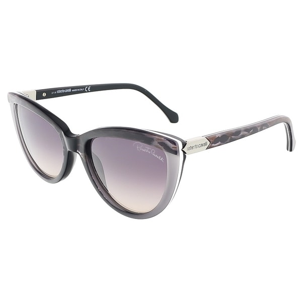 Roberto Cavalli RC787S/S 05B ACHIRD Black/Grey Cateye sunglasses - 55-18-140