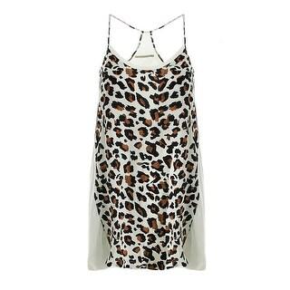 Townsen Womens Silk Animal Print Sundress - XS