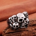 Vienna Jewelry Skull's Army Stainless Steel Ring - Thumbnail 1