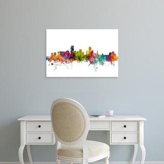 Easy Art Prints Michael Tompsett's 'Miami Florida Skyline' Premium Canvas Art