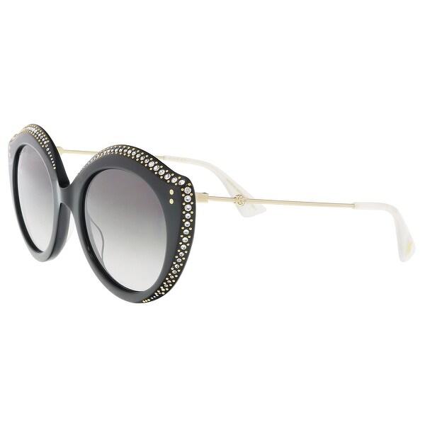 3a7e0d38b81 Shop Gucci GG0214S-001 Black Cateye Sunglasses - 52-22-145 - Free ...