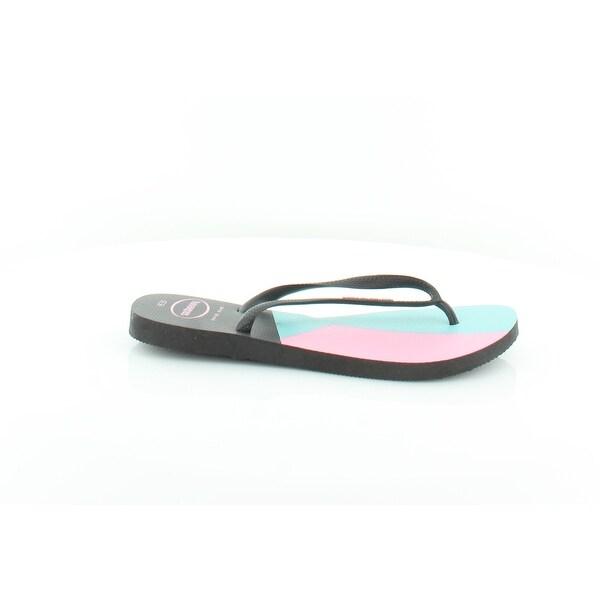 3c159c9f6 Shop Havaianas Slim Women s Sandals Black Black - 10 - Free Shipping ...