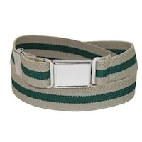 CTM® Kids' Elastic Striped Belt with Magnetic Buckle