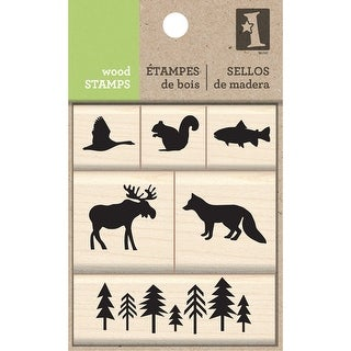 Inkadinkado Mounted Stamp Set-Woodland