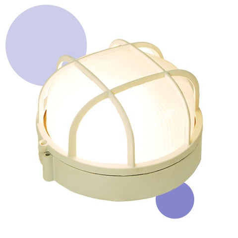 eTopLighting Durable Exterior Deck and Boat Light Fixture - Round Cage Light