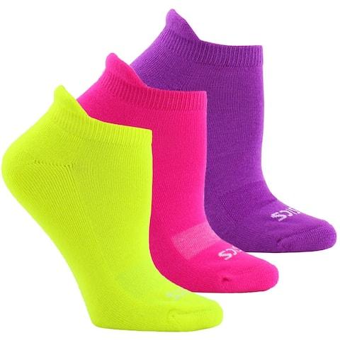 Asics Womens Cushion Low Cut 3-Pack Running Athletic Socks Socks