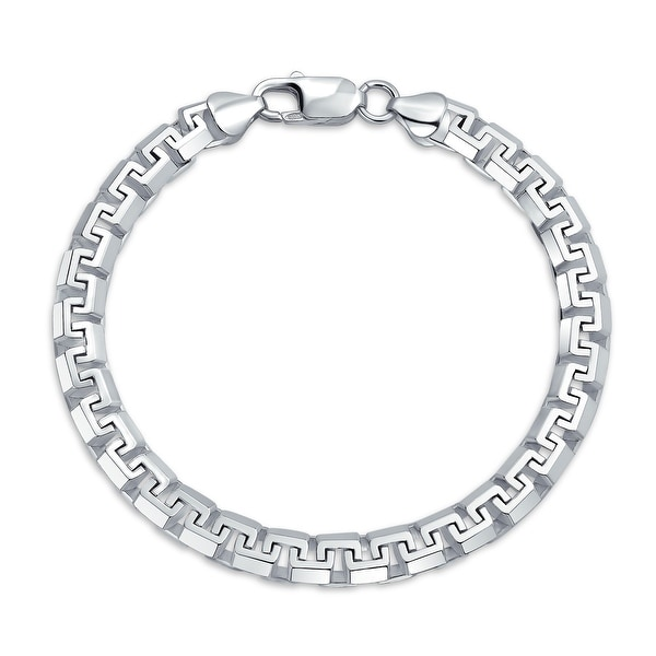 Solid Heavy Strong Franco Square Link Chain Bracelet Sterling Silver - 9. Opens flyout.
