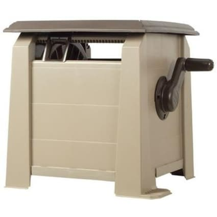 Ames 2398820 NeverLeak Deck Hose Reel Box, 175' Hose