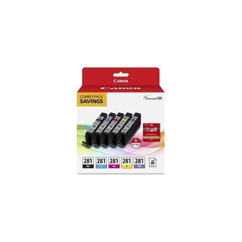 Canon CLI-281 Ink Cartridge/Paper Kit Combo Pack Ink Cartridge/Paper Kit