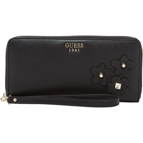 Shop Guess Womens Liya Zip Around Wallet Faux Leather Studded - o s ... 5b892dfc94
