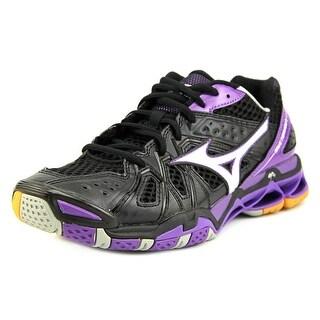 Mizuno Wave Tornado 9 Women D Round Toe Synthetic Black Sneakers