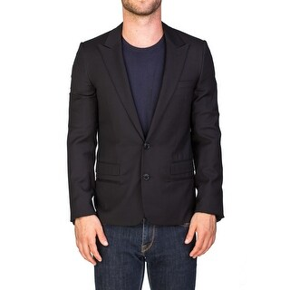 Dior Homme Men's Wool Two-Button Tuxedo Jacket Sportscoat Black