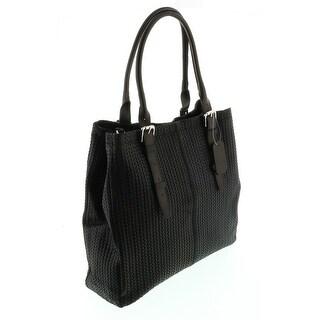 HS Collection HS 2078 NR ASPA Black Leather Tote/Shopper Bags - 13-14-4.5