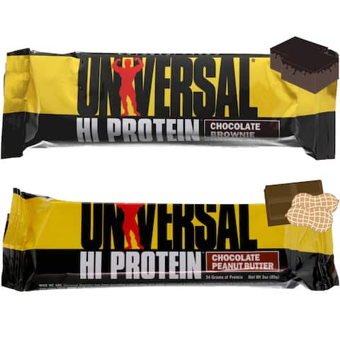 Universal Nutrition Hi Protein Bar (33g each) Box of 16, Low Sugar and Net Carbs - 16 Bars