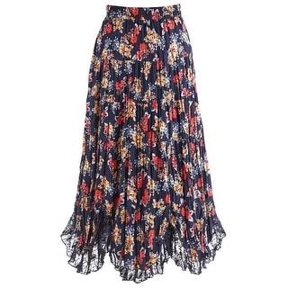 Women's Bed Of Roses Navy Skirt