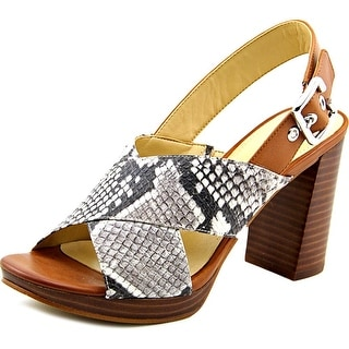 Marc Fisher Faithe2 Women Open Toe Leather White Sandals