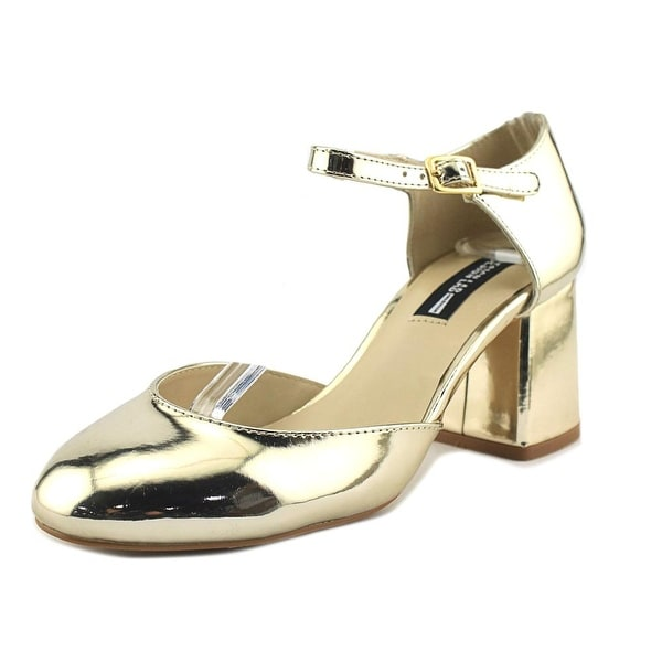 Design Lab Lord & Taylor Mia Gold Pumps